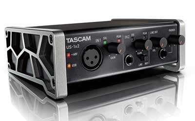 TASCAM's US-1x2 Interface Delivers Pro-Quality Mobile Recording