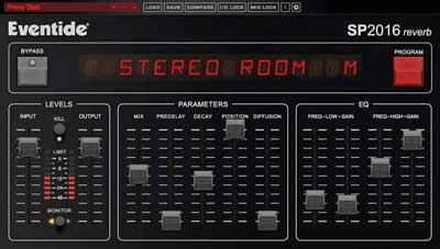 Eventide Announces New SP2016 Reverb Plug-In