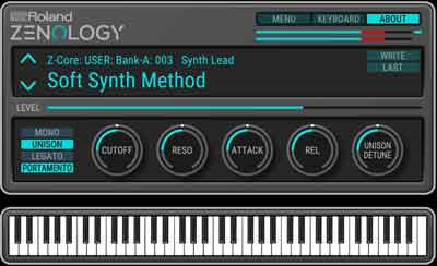 Roland introduces the ZENOLOGY Software Synthesizer